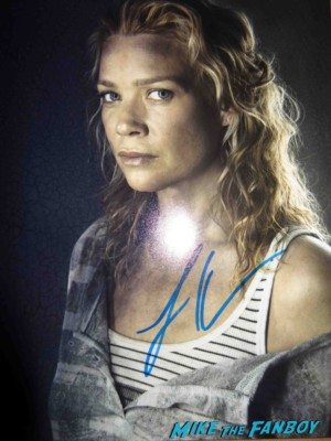 laurie holden signed autograph the walking dead rare promo photo hot sexy andrea rare signing autographs for fans