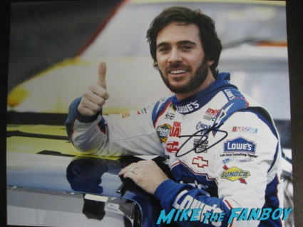 Jimmie Johnson signed autograph photo rare taping an episode of extra a the grove in los angeles