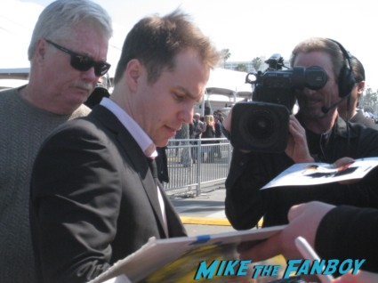 sam rockwell hot signing autographs for fans at the spirit awards 2013 rare rushmore signed autograph rare promo