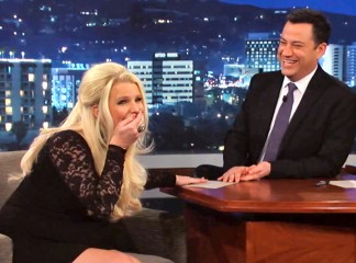 jessica simpson on jimmy kimmel live revealing the sex of her baby