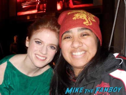 rose leslie fan photo signing autographs at Game of Thrones the Exhibition in new york city rare promo hot rare