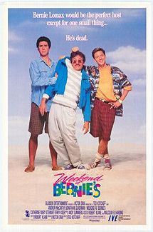weekend at bernie's movie poster rare promo jonathan silverman andrew mccarthy hot rare promo