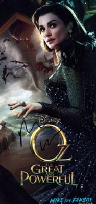 rachel weisz signed autograph poster signing autographs for fans at the oz the great and powerful london movie premiere