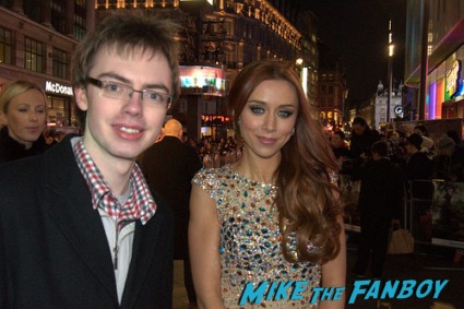 una healy signed autograph signing autographs for fans at the oz the great and powerful london movie premiere