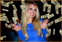 britney spears with money falling all over here rare promo hot sexy promo photo still