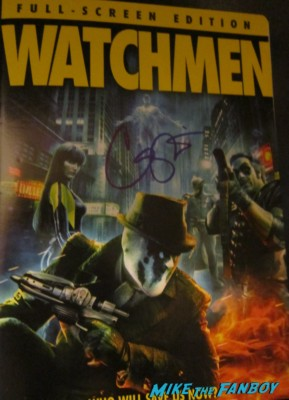 Carla gugino signed autograph Watchmen dvd cover rare promo hot signing autographs for fans hot rare promo photo signing autographs