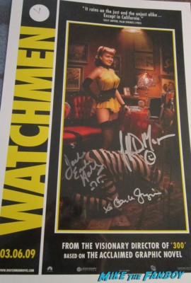 watchmen signed autograph Cast Poster carla gugino jeffrey dean morgan autograph rare