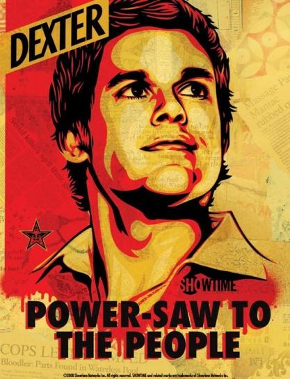 dexter rare art poster power saw to the people rare hot michael c hall dexter morgan