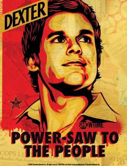 dexter rare art poster power saw to the people rare hot michael c hall dexter morgan
