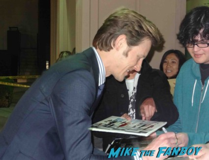 Gabe Mann signing autographs for fans Revenge cast premiere With Emily VanCamp! Gabriel Mann! Henry Czerny! Ashley Madekwe! Nick Wechsler! Joshua Bowman! Christa B. Allen! Autographs! Photos !