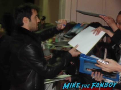 Josh Bowman signing autographs for fans Revenge cast premiere With Emily VanCamp! Gabriel Mann! Henry Czerny! Ashley Madekwe! Nick Wechsler! Joshua Bowman! Christa B. Allen! Autographs! Photos !