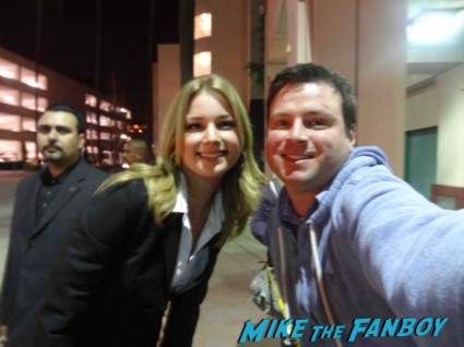 Emily VanCamp signing autographs for fans rare fan photo hot sexy Revenge cast premiere With Emily VanCamp! Gabriel Mann! Henry Czerny! Ashley Madekwe! Nick Wechsler! Joshua Bowman! Christa B. Allen! Autographs! Photos !