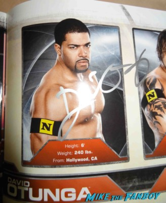 David Otunga signed autograph wwe program signing autographs for fans at the call movie premiere rare signed autograph wwe wrestler
