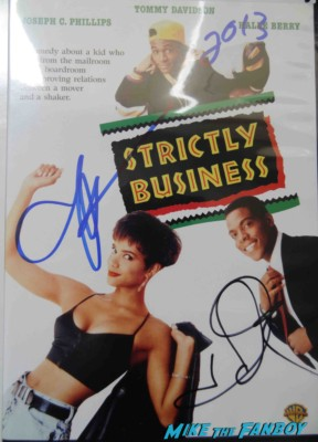 Halle Berry signed autograph strictly business dvd cover tommy davidson rare promo hot