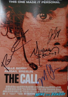 The call cast signed autograph movie poster halle berry rare promo poster