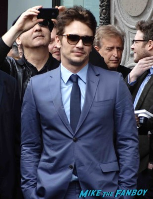 James Frano arriving to his James Franco walk of fame star ceremony in hollywood signing autographs for fans rare promo