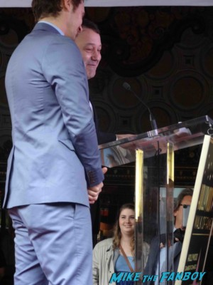 sam raimi giving his speech at  James Franco walk of fame star ceremony in hollywood signing autographs for fans rare promo