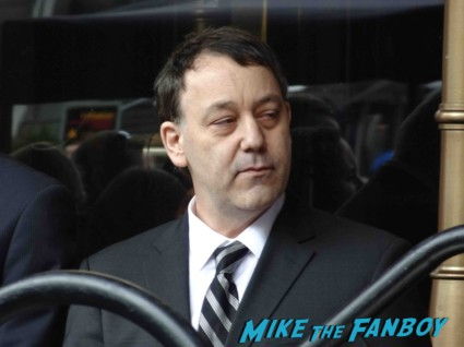 sam raimi arriving to his James Franco walk of fame star ceremony in hollywood signing autographs for fans rare promo