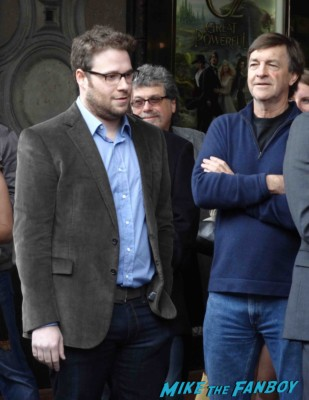 seth rogan arriving to his James Franco walk of fame star ceremony in hollywood signing autographs for fans rare promo