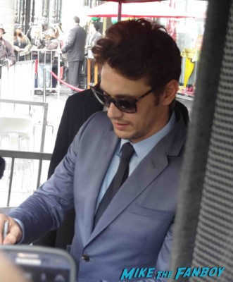 james franco signing autographs  at  James Franco walk of fame star ceremony in hollywood signing autographs for fans rare promo