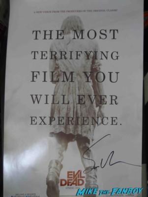 sam raimi signed autograph evil dead promo mini movie poster rare evil dead remake
