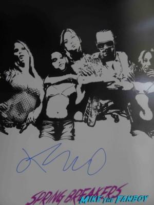 James Franco signed autograph spring breakers rare movie poster promo hot sexy rare