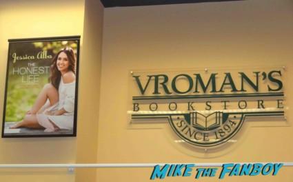 Jessica alba book signing at vroman's in pasadena california rare signed book rare promo