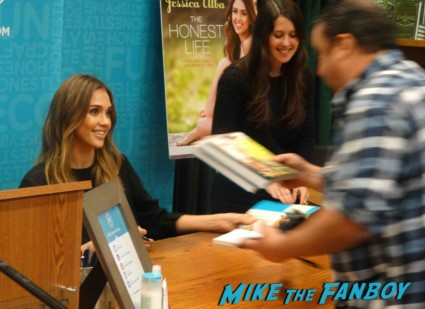 Jessica Alba signing autographs Jessica alba book signing at vroman's in pasadena california rare signed book rare promo