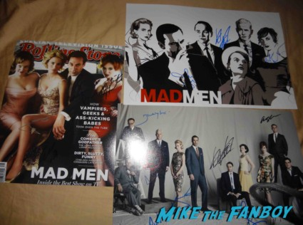 mad men cast signed autograph promo poster rare season 6 premiere jon hamm sexy January Jones fan photo mad men season 6 premiere after party signing autographs for fans