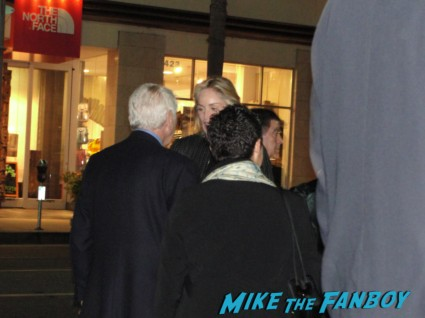 sharon stone on the streets of hollywood at a charity event being rude to fans