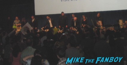 the walking dead cast signing autographs for fans laurie holden scott wilson norman reeds