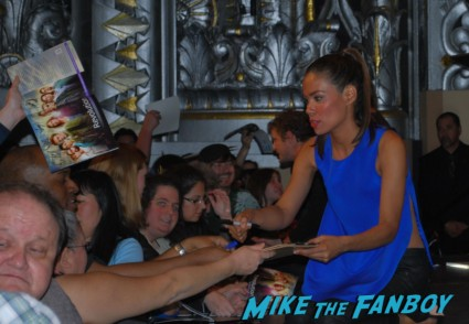 Daniella Alonso signing autographs for fans  at the revolution paleyfest 2013 panel
