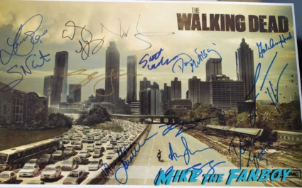 the walking dead cast signed poster rare andew lincoln norman reedus scott wilson rare the walking dead cast andrew lincoln sarah wayne callies fan photo signing autographs rare promo norman reedus signing autographs at the paleyfest 2013 panel the walking dead cast signing autographs for fans laurie holden scott wilson norman reeds