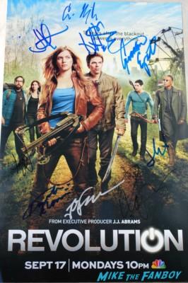 revolution cast signed autograph poster jj abrams jon favreau billy burke jd pardo