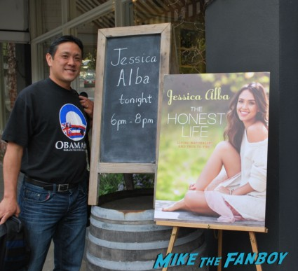 Jessica Alba the honest life book signing in the bay area san francisco