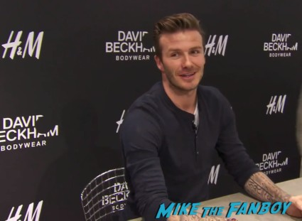 David Beckham Signing Autographs Underwear rare signed H&M Store Hot Sexy Rare David Beckham signing autographs h & M underwear signing