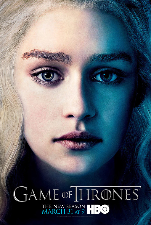 GOT3-Daenery-Poster game of thrones season 3 emilia clarke-Tyrion-Poster character poster