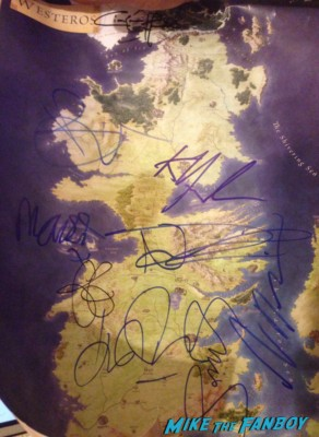 game of thrones signed autograph mini promo poster hot rare signed autograph rare