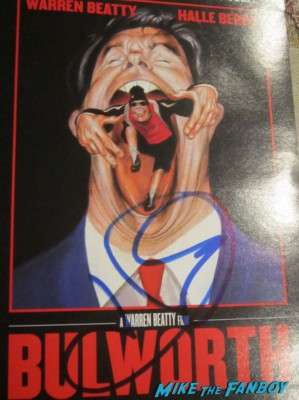 Helle Berry signed autograph bulworth DVD cover rare promo