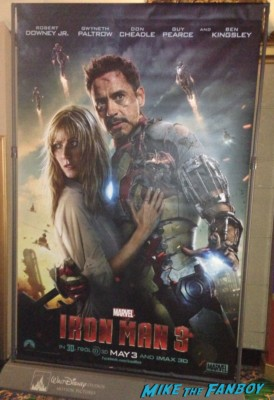 Iron Man 3 new one sheet movie poster rare promo hot robert downey jr. gwyneth paltrow