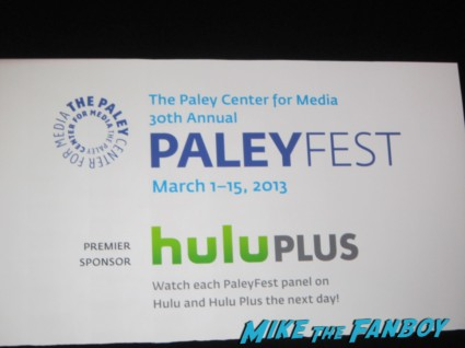 Paleyfest 2013 logo rare promo hot rare the newsroom 2013 rare photo