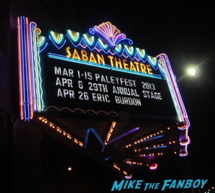 Paleyfest 2013 rare promo saban theater marquee the newsroom rare neon