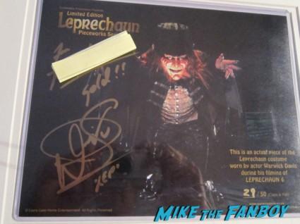 Warwick davis signed autograph leprechaun dvd cover rare promo signature