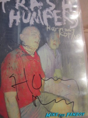 thrash humpers signed autograph dvd insert Harmony Korine  signing autographs for fans at a q and a for spring breakers q and a arclight cinemas movie ticket stub rare spring breakers promo hot