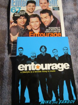 entourage dvd's not signed by jeremy piven rare