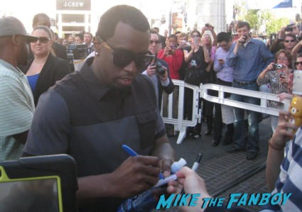 sean combs puff daddy p diddy signing autographs for fans at the grove in los angeles