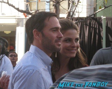 Jimmie Johnson taping an episode of extra a the grove in los angeles