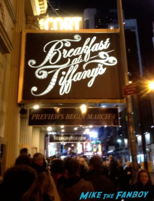 breakfast at tiffany's broadway marquee sign rare emilia clarke broadway poster promo