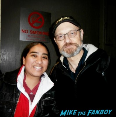 David Hyde Pierce fan photo signing autographs for fans in new york after Vanya and Sonia and Masha and SpikeDavid Hyde Pierce fan photo signing autographs for fans in new york after Vanya and Sonia and Masha and Spike