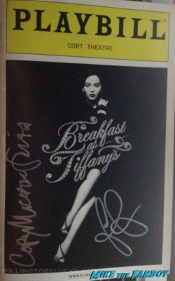 Cory michael smith emilia clarke signed autograph breakfast at tiffany's playbill rare promo game of thrones star rare